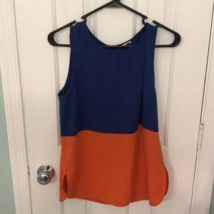 Blue and orange tank top